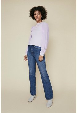 Lilac Contrast Sleeve Jumper