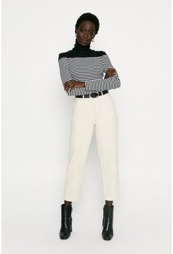 Blackwhite Bretton Stripe Roll Neck Top
