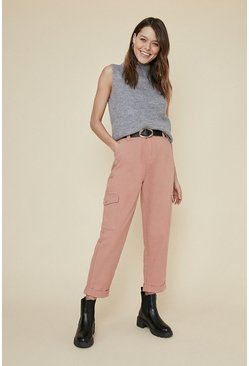 Pink Twill Cargo Trouser