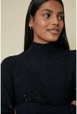 Navy Sequin Jumper