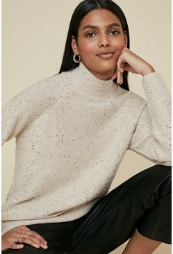 Oatmeal Sequin Jumper