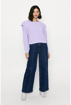 Purple Lipped Shoulder Jumper