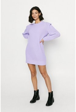 Purple Lipped shoulder dress