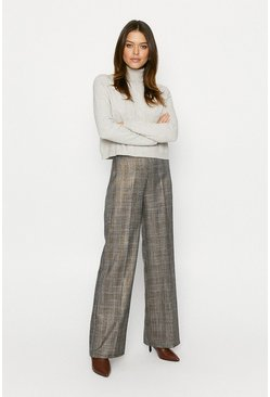 Grey Glitter Check Trouser