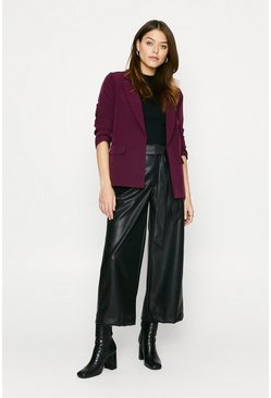 Wine Lined Soft Blazer
