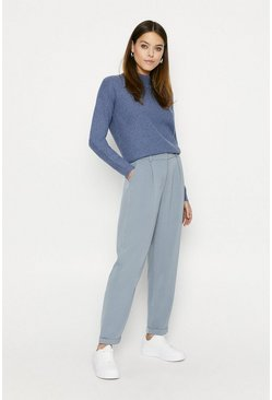 Blue Relaxed Peg Trouser