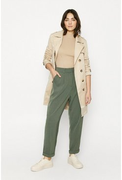 Khaki Relaxed Peg Trouser