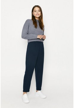 Navy Relaxed Peg Trouser