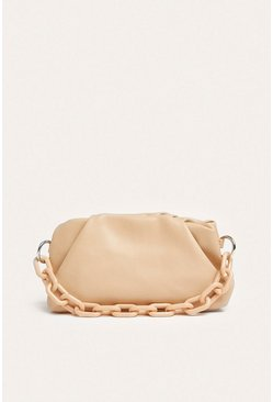 Nude Chain Strap Ruch Bag