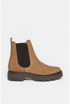 Taupe Chunky Suede Chelsea Boot