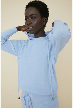 Pale blue Soft Touch Lounge Hooded Jumper