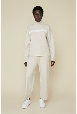 Cream Stripe Soft Touch Joggers