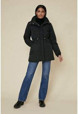 Black Diamond Quilted Padded Coat