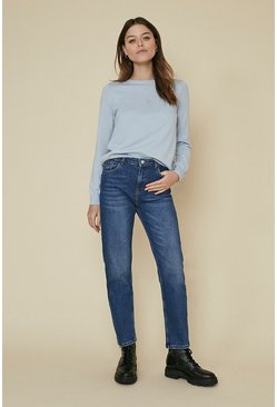 Pale blue Knit Lace Back Jumper