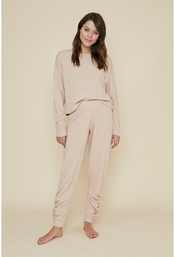 Camel Cable Ruched Jogger