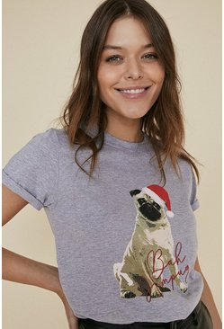 Grey Bah Humpug T Shirt