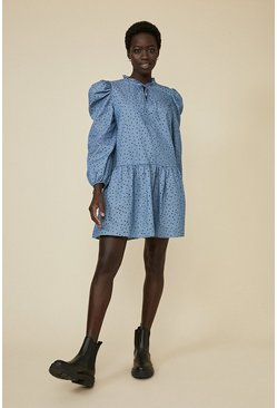 Dark wash Denim Floaty Spot Dress