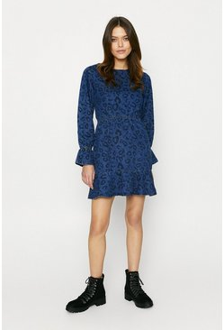Denim Leopard Dress