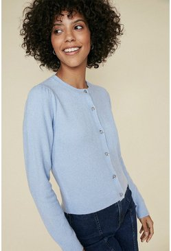 Light blue Pretty Button Cardigan