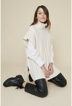 Cream Cable Tank Jumper
