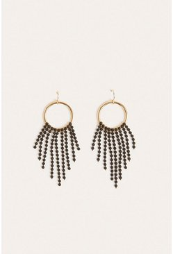 Black Chain Drop Earring