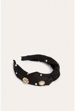 Black Pearly Sparkle Headband