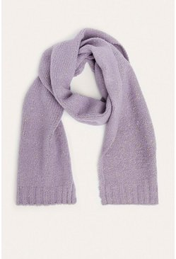 Grey Sparkle Knitted Scarf
