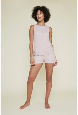 Pale pink Cosy Rib Ruch Short
