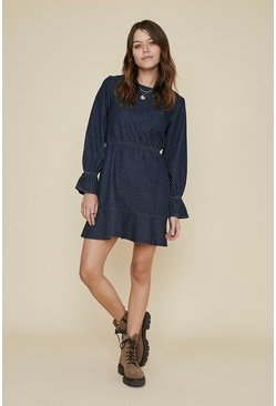 Dark blue Denim Spot Dress