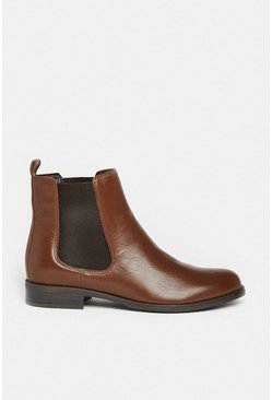 Tan Leather Chelsea Ankle Boot