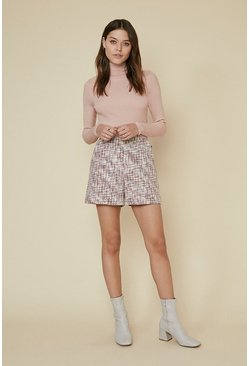 Multi Tweed Short