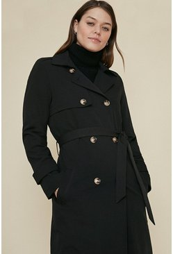 Black Drapey Trench Coat