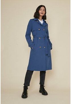 Dark navy Drapey Trench Coat