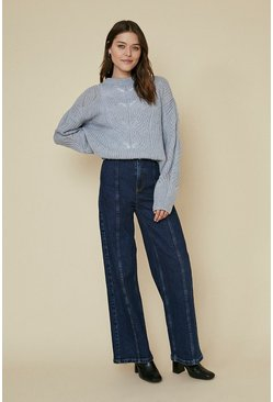 Blue Cosy Stitch Jumper