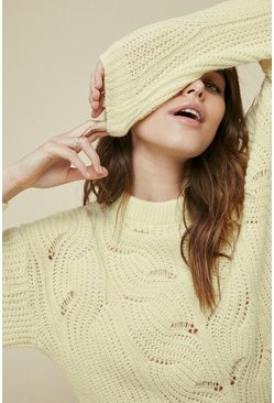 Yellow Cosy Stitch Jumper