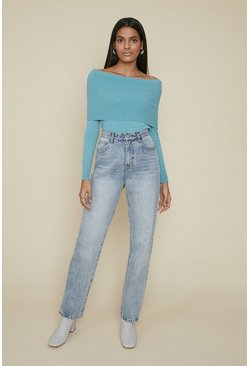 Sage Off The Shoulder Jumper