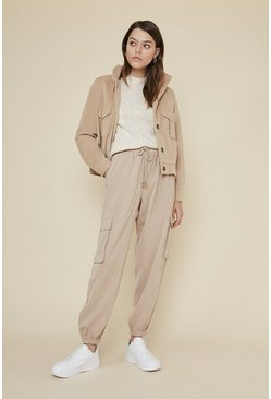 Camel Relaxed Soft Twill Trouser