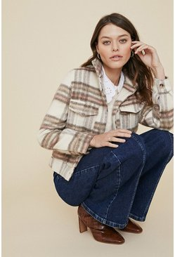 Natural Brushed Check Jacket