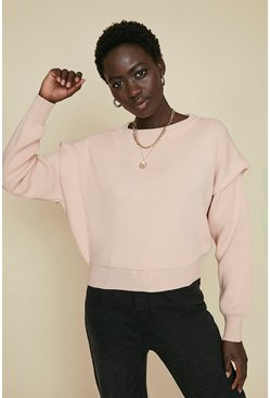 Light pink Drop Shoulder Jumper
