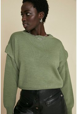 Sage Drop Shoulder Jumper