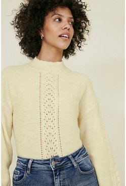 Lemon Stitch Front Cosy Jumper