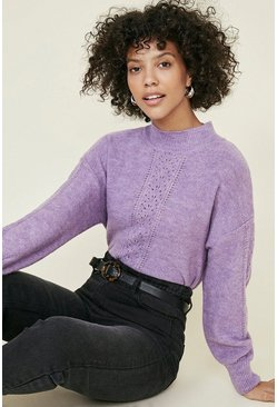 Lilac Stitch Front Cosy Jumper