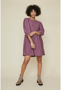 Mauve Textured Skater Dress