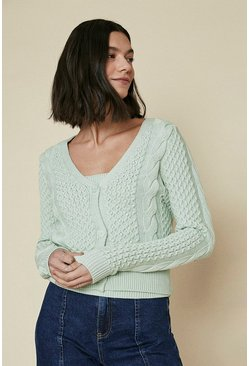 Pale green Pearl Cardigan