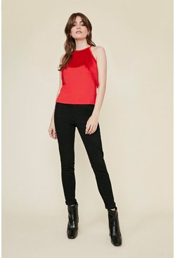 Red Tassel Halterneck Top