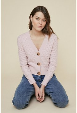 Pink Scallop cardigan