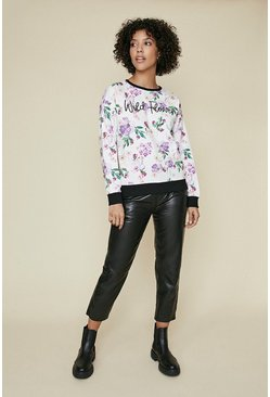 Multi Wild Flower Printed Sweatshirt