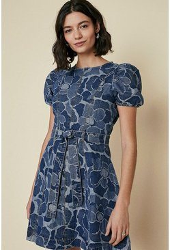 Dark wash Jacquard Dress