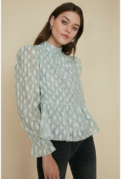Mint Textured Top