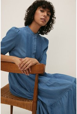 Mid wash Floaty Denim Dress